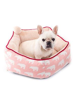 Pink Bear Design Plush Bed Large 60 cm