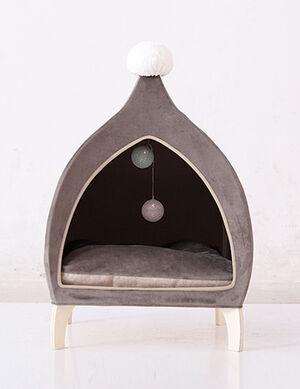 Grey Pet House Medium