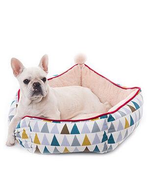 White Triangle designs Plush Bed Large 60cm