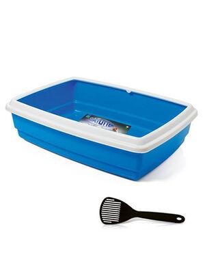 Georplast Jumbo Cat Litter Box With Scoop Blue
