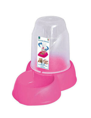 Georplast Dispenser Eat & Drink Pink