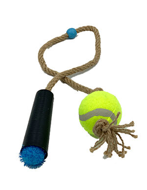 Pet Craft Tennis Ball with Rope Blue -  Dogs product
