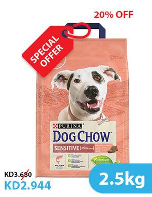 20% Purina Dog Chow Sensitive With Salmon 2.5kg (SE)