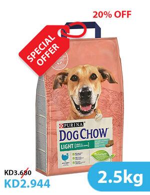 20% Purina Dog Chow Light With Turkey 2.5kg (SE)