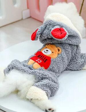 Winter Grey Bear Pajamas Small