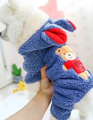 Winter Blue Bear Pajamas Medium