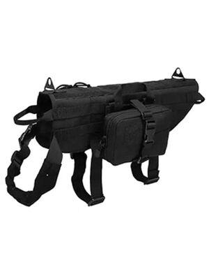 Black Tactical Dog Suit Large