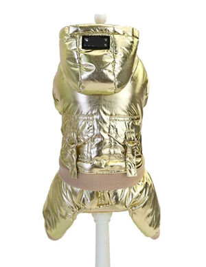 Golden Pet Winter Jacket with Back Pockets Small