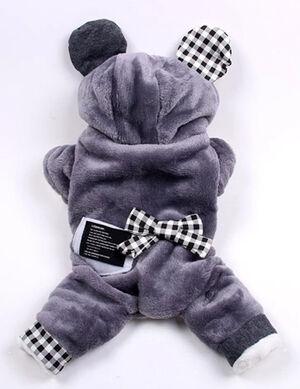 Grey Bow Tie Pajama Small
