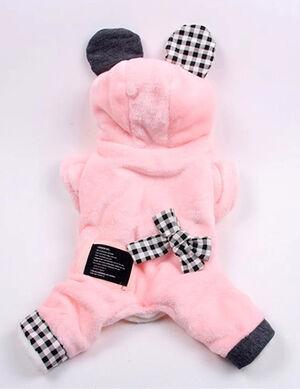 Pink Bow Tie Pajama Small