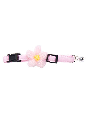 Cotton Bow Pink Collar Free Size