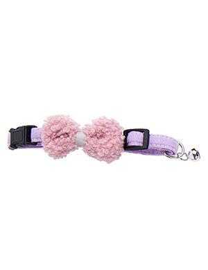 Cotton Bow Purple Collar Free Size