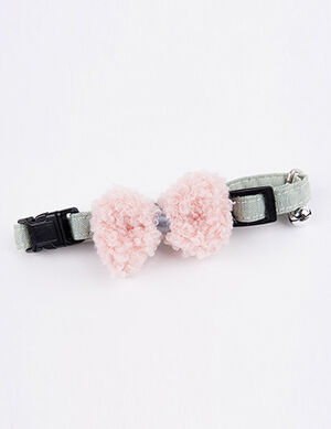 Cotton Bow Grey Collar Free Size