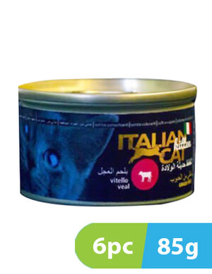 Italian Cat with Veal 6 x 85 gm