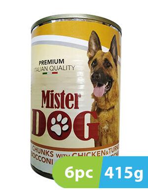 Mister Dog Chunks with Chicken & Turkey 6 x 415 gm