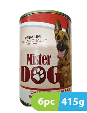 Mister Dog Chunks with Meat 6 x 415 gm