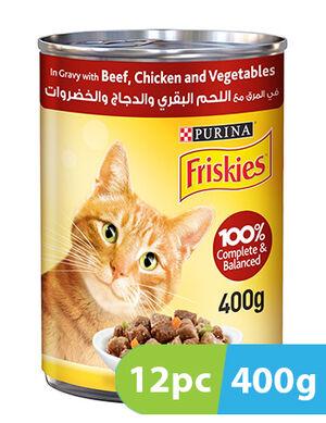 Purina Friskies Beef, Chicken & Vegetables in Gravy 12pc x 400g