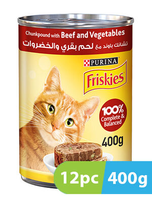 Purina Friskies Beef and Vegetables in Chunkpound 12pc x 400g