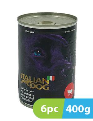 Italian Dog Pate with Beef 6 x 400 gm