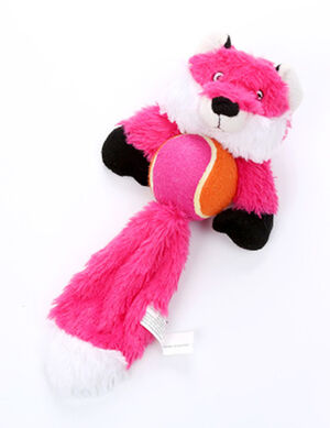 Pink Fox With Tennis Ball