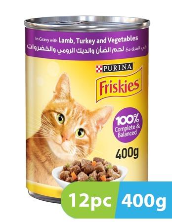 Purina Friskies Lamb, Turkey & Vegetables in Gravy 12pc x 400g
