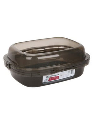 M-Pets Alexandria - Cat Litter Tray With Rim Taupe Grey