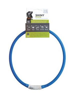 M-Pets Shiny Adjustable Silicon Led Collar Blue
