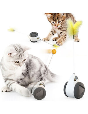 2in1 Balance Cat Toy White